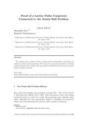 Proof of a Lattice Paths Conjecture Connected to the Tennis Ball ...