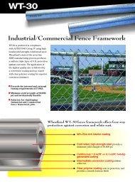 Industrial/Commercial Fence Framework - Wheatland Tube