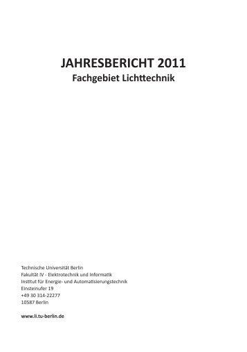 2 Lehre - Institut für Lichttechnik, TU Berlin