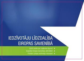 iedzīvotāju līdzdalība eiropas savienībā - Latvijas Republikas Ārlietu ...