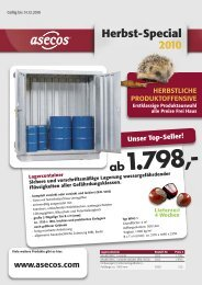 Herbst-Special 2010 - Asecos GmbH