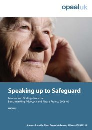 Speaking Up to Safeguard - Action on Elder Abuse