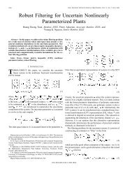 Robust filtering for uncertain nonlinearly parameterized plants ...