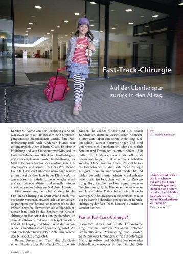 Fast-Track-Chirurgie - Pädiatrix