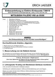 Einbauanleitung zu Elektro-Einbausatz 736619 ... - Rameder