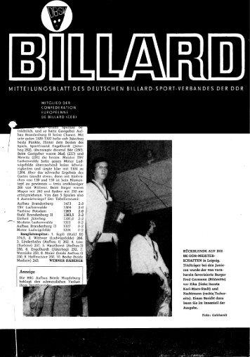 Dezember 1975 - DDR Billardzeitungen 1976