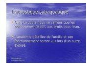L'acoustique subaquatique - Jacquet Stephan - Free