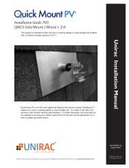 QuickMount PV Installation Manual - Unirac