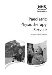 Paediatric Physiotherapy Service - NHS Lanarkshire
