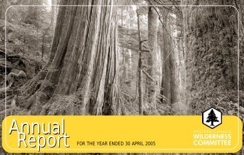 2005 Annual Report - Wilderness Committee