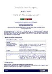 KEPLER Mix Ausgewogen VVKP 15.11.08 - boerse-live.at