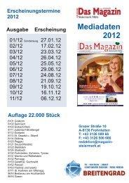 Mediadaten 2012 - DAS MAGAZIN Steiermark-Mitte