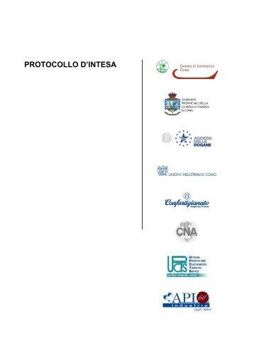 PROTOCOLLO D'INTESA - Camera di Commercio