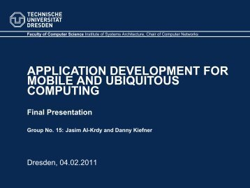 Final Presentation - Faculty of Computer Science