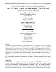 An Empirical Study on the Relationship Between Organizational