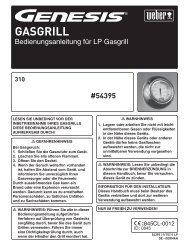 Genesis E 310 - Weber - Der Grill. Das Original.