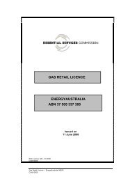 EnergyAustralia NSW Gas Retail Licence - Essential Services ...