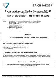 Einbauanleitung zu Elektro-Einbausatz 749189 ROVER ...