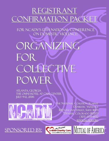 Organizing for Collective Power - National Coalition Against ...