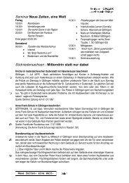 Seminar Neue Zeiten, eine Welt Südniedersachsen - Mittendrin statt ...