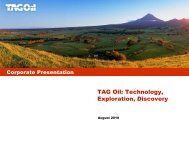 Corporate Presentation - TAG Oil