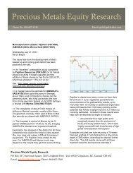 Precious Metals Equity Research - Merrex Gold Inc.