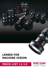 lenses for machine vision price list 11/12 - Security Systems - Pentax