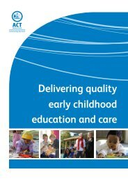Delivering quality early childhood education and care facilities