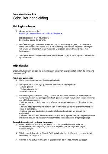 Gebruiker handleiding - Linde College
