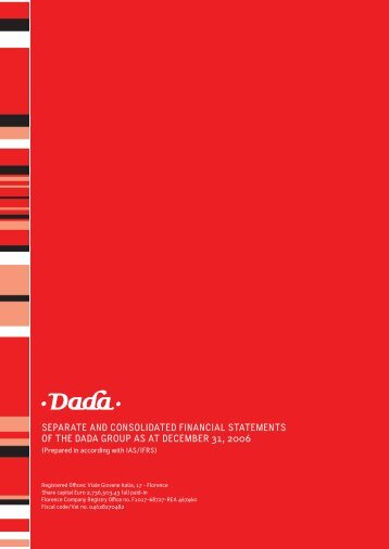 Parent Company and Consolidated Financial Statements ... - DADA