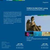 FORSCHUNGSTAG 2009 - Baden-Württemberg Stiftung