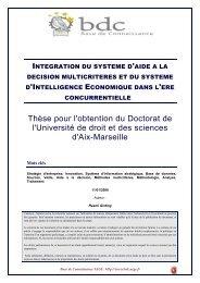 Intégration du système d'aide à la décision multicritères - Base de ...