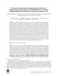 eficácia e seletividade de herbicidas do grupo das imidazolinonas ...
