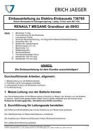 Einbauanleitung zu Elektro-Einbausatz 736765 RENAULT ...