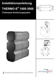 Installationsanleitung THERMO-S 1000-3000 - bei altmayerBTD