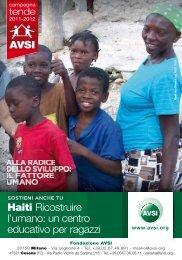 Haiti Ricostruire l'umano: un centro educativo per ragazzi AVSI