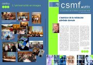 (Maquette univinfo n\2602) - CSMF