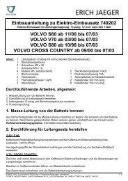 Einbauanleitung zu Elektro-Einbausatz 749202 ... - Bertelshofer