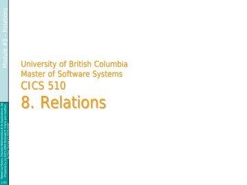 Relations - ICICS - University of British Columbia