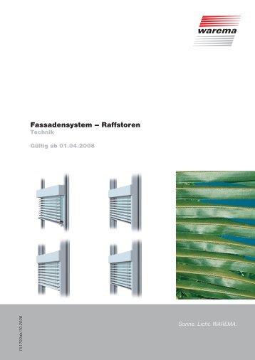Fassadensystem – Raffstoren - blinds