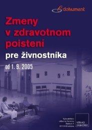 Zmeny v zdravotnom poistení pre živnostníka od 1. 9. 2005