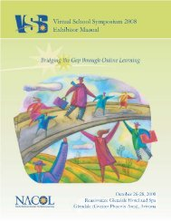 Exhibitor Manual - Virtual School Symposium 2008