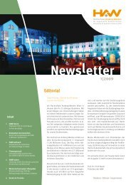 Newsletter Editorial 1|2009 - Hochschule Amberg-Weiden