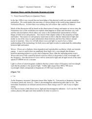 Chapter 7- Quantum Chemistry Chang 10th Ed. Quantum ... - PageOut