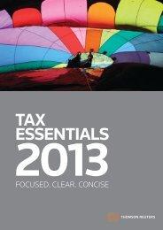 Download Tax Essentials 2013 brochure ( 3mb) - Thomson Reuters