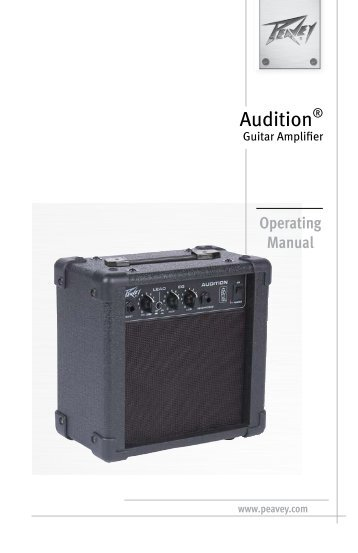 Audition - Peavey