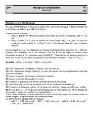 TS spé Ch B4 exercice - élève -corrigé - EveryOneWeb