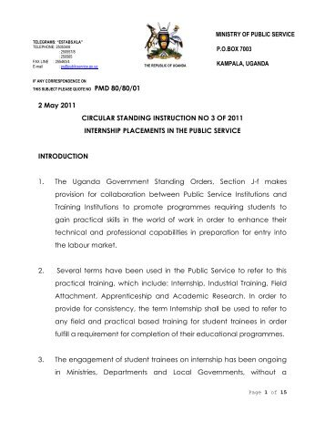 2 May 2011 CIRCULAR STANDING INSTRUCTION NO 3 OF 2011 ...