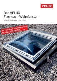 VELUX Flachdach-Wohnfenster - DUMA GmbH