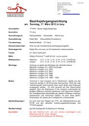 Bezirksjahrgangssichtung - TTVWH Bezirk Allgäu-Bodensee